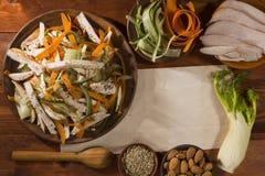Salade met de venkel en de amandelen van Turkije Stock Fotografie