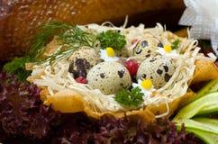 Salade met ei Royalty-vrije Stock Foto's
