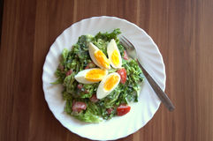 Salade met ei Royalty-vrije Stock Foto