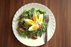 Salade met ei Royalty-vrije Stock Fotografie