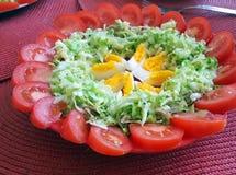 Salade met eieren Stock Foto