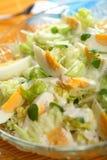 Salade met eieren en yoghurt Royalty-vrije Stock Afbeeldingen
