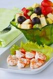 Salade met garnalen Royalty-vrije Stock Foto