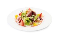 Salade met gerookte eendborst Royalty-vrije Stock Fotografie