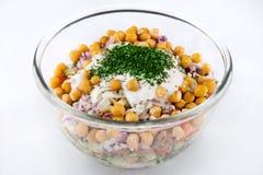 Salade met graan Stock Afbeelding