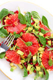 Salade met grapefruit en avocado royalty-vrije stock foto