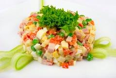 Salade met groenten   Royalty-vrije Stock Afbeelding