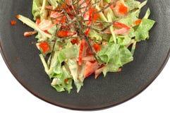 Salade met groenten royalty-vrije stock foto