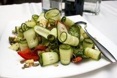 Salade met groenten en greens Royalty-vrije Stock Foto