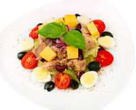 Salade met groenten en tonijn Royalty-vrije Stock Fotografie