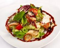Salade met groenten en vissen Royalty-vrije Stock Afbeelding