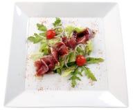 Salade met ham Royalty-vrije Stock Foto