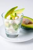 Salade met kaas en avocado stock foto