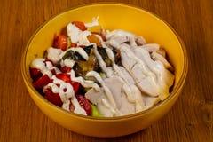 Salade met Kip royalty-vrije stock fotografie