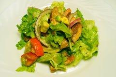 Salade met kip, tomaten, sla, avocado Royalty-vrije Stock Fotografie