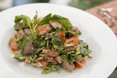 Salade met kippenlever Royalty-vrije Stock Afbeelding