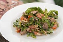 Salade met kippenlever Stock Fotografie