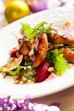 Salade met kwartels Stock Afbeeldingen