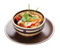 Salade met paddestoelen en pinda's Aziatische keuken stock afbeelding