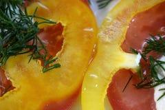 Salade met peper en tomaat royalty-vrije stock foto's