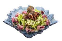 Salade met rundvlees en arugula royalty-vrije stock foto's