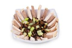 Salade met rundvleestong Stock Fotografie
