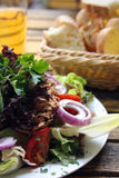 Salade met tonijn royalty-vrije stock afbeelding
