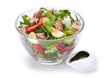 Salade met tonijnvissen Stock Foto's