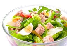 Salade met tonijnvissen Stock Foto