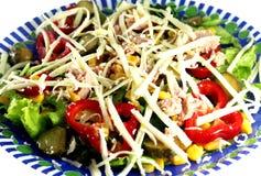 Salade met tonijnvissen en kaas Stock Afbeelding