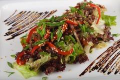 Salade met varkensvlees stock foto