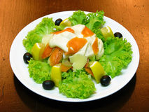 Salade met zalm Royalty-vrije Stock Fotografie