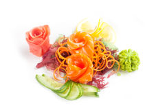 Salade met zeevruchten Stock Afbeeldingen