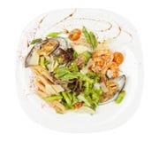 Salade met zeevruchten Stock Fotografie