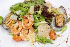 Salade met zeevruchten Royalty-vrije Stock Afbeelding