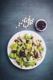 Salade mixte avec des canneberges Image stock