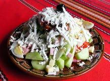 Salade mixte avec des légumes Photographie stock libre de droits