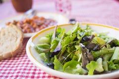 Salade mixte avec des verts sauvages Images stock