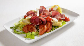 Salade mixte de jambon Photo stock