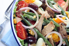 Salade Nicoise royalty-vrije stock foto's