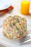 Salade Olivier Royalty-vrije Stock Foto's