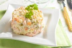 Salade olivier Photos stock
