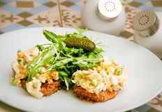 Salade Olivier Lizenzfreie Stockbilder