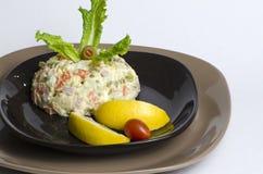 Salade olivier Photographie stock
