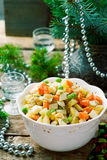 Salade Olivier, Russian Salad Stock Photos