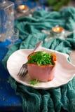 Salade Olivier, Russische salade royalty-vrije stock fotografie