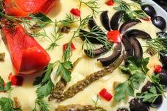 Het close-up van de salade Royalty-vrije Stock Foto's