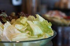 Salade op de plaat Royalty-vrije Stock Fotografie