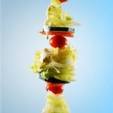 Salade op een Vleespen Royalty-vrije Stock Foto