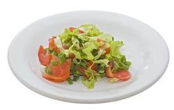 Salade op een witte plaat Royalty-vrije Stock Afbeelding